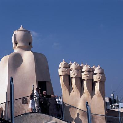 Xemeneies del terrat de la Casa Milà, La Pedrera. (Imagen M.A.S.)