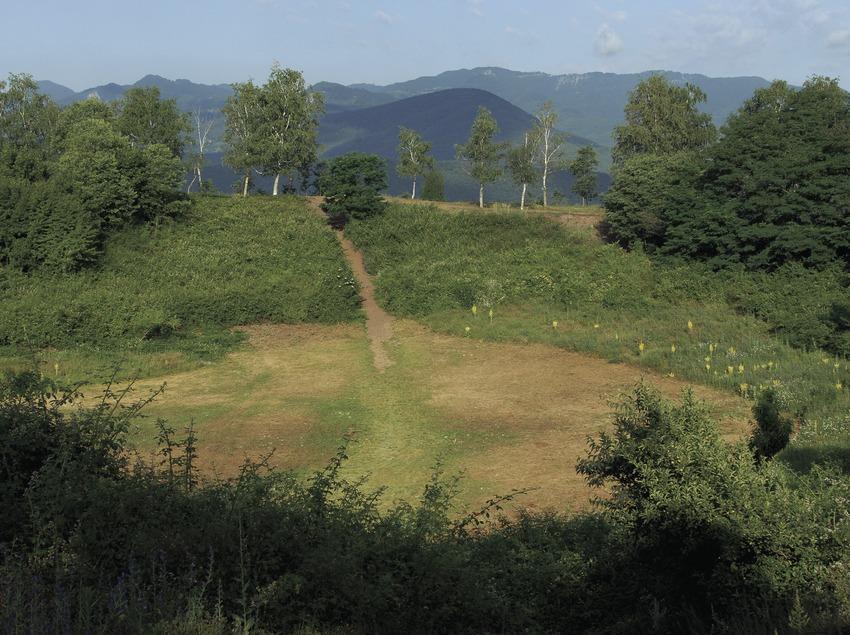 Krater des Vulkans Montsacopa im Naturpark Vulkane der La Garrotxa.  (José Luis Rodríguez)