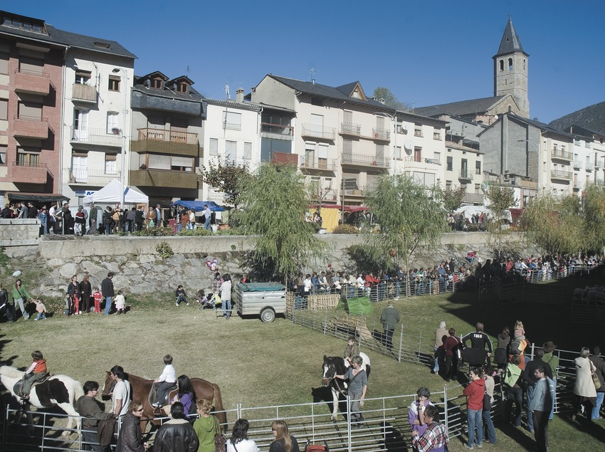 Fair on Avinguda dels Comtes in Pallars and church of Sant Feliu  (Servicios Editoriales Georama)