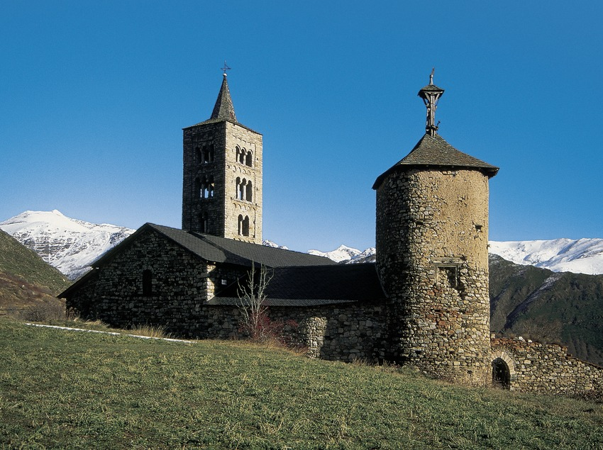 Torre de les Hores (Tower of the Hours) and Romanesque church of Son