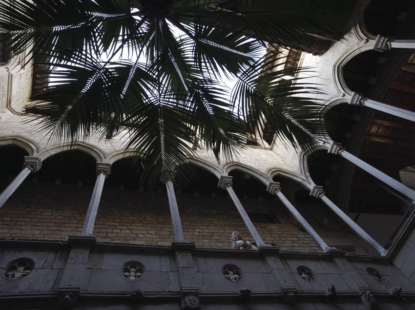 Pati del Palau Aguilar, seu del Museu Picasso.