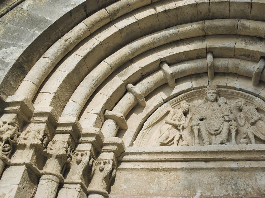 Détail de l'entrée de l'église de Vallbona de les monges  (Servicios Editoriales Georama)