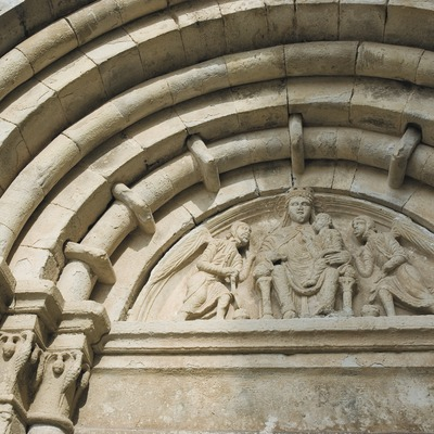 Detalle de la portada de la iglesia de Vallbona de les Monges  (Servicios Editoriales Georama)