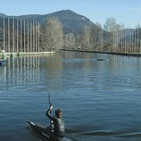 Canoeist in the Olympic Park of the Segre  (Servicios Editoriales Georama)