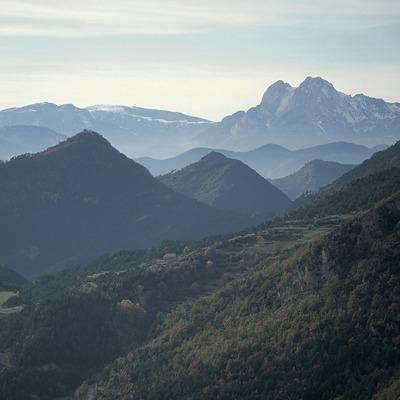 Cadí mountain range and Pedraforca, in the Cadí-Moixeró Natural Park.  (Servicios Editoriales Georama)