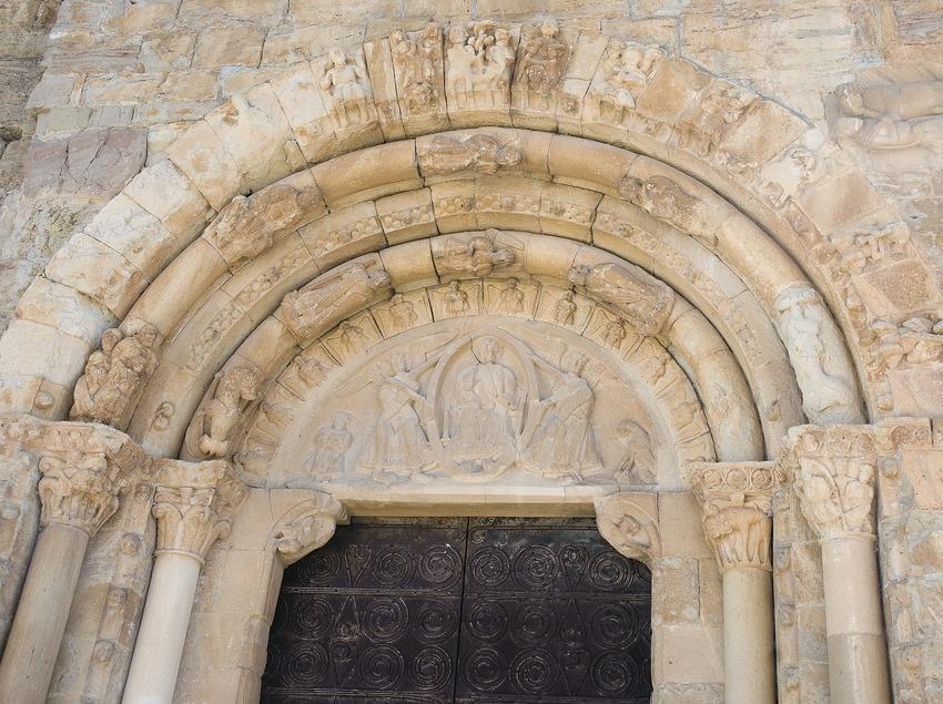 Portal de la iglesia de Santa Maria de Covet  (Servicios Editoriales Georama)
