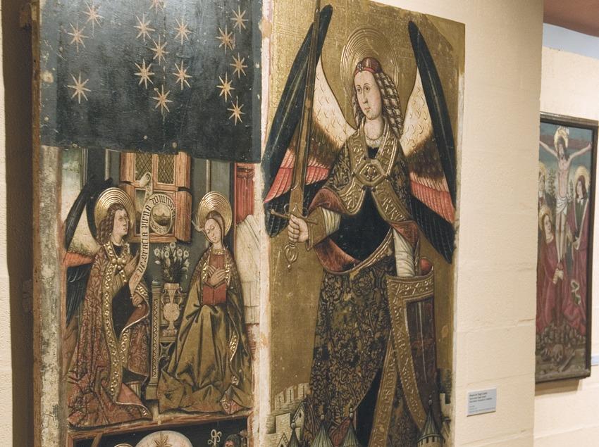 Casa Museo Duran Sanpere. Tabla de pintura gótica.  (Servicios Editoriales Georama)