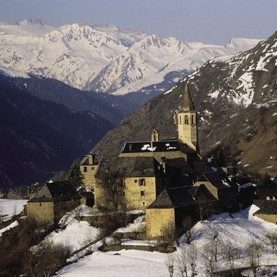 Vista nevada de la localidad