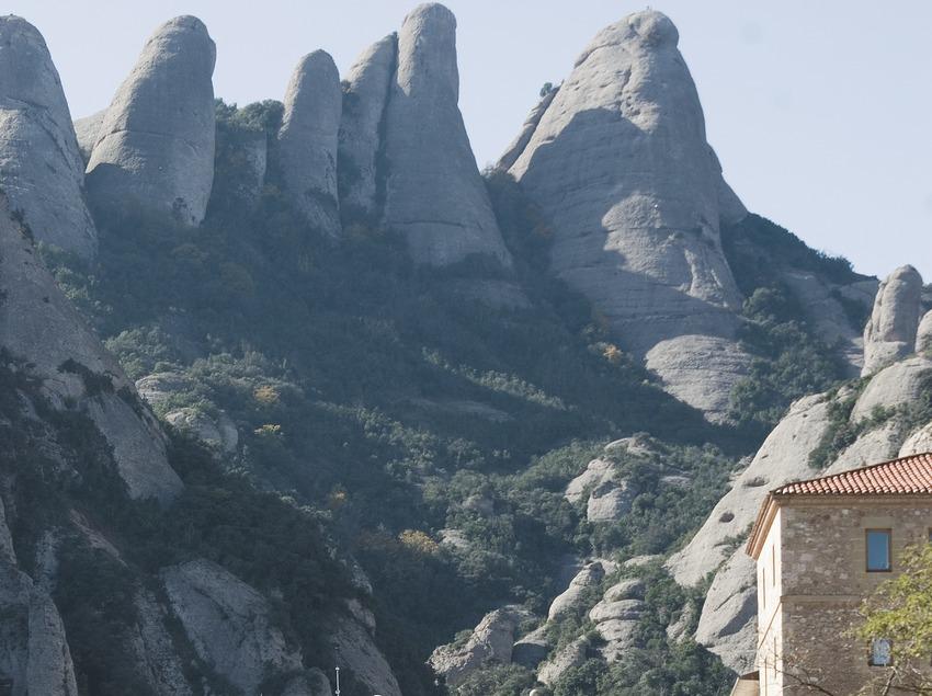 Das Kloster Montserrat.
