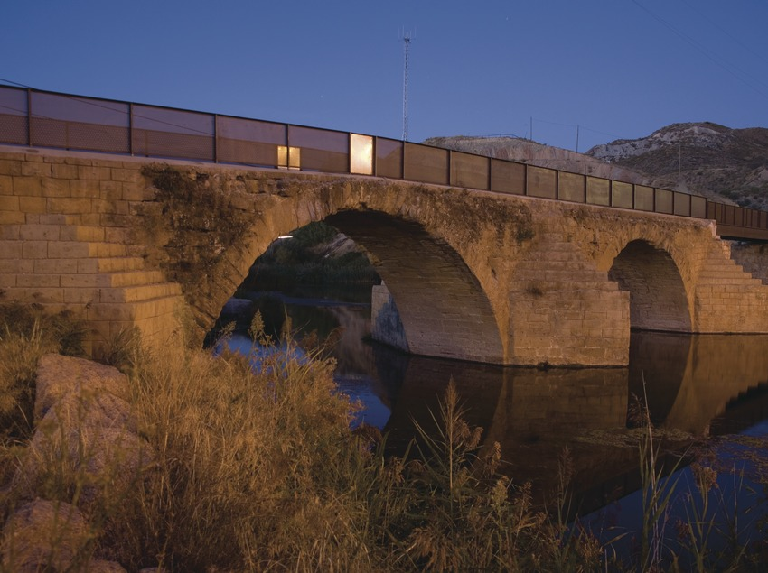 Old bridge and river Noguera Ribagorçana