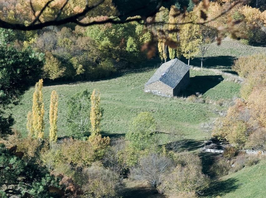 Hut in the Alto Pirineo Nature Park