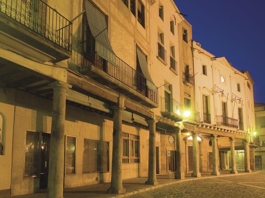 Plaza porticada y ayuntamiento  (Miguel Raurich)