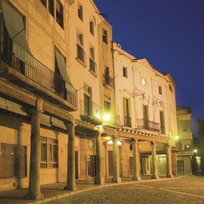 Plaça porticada i ajuntament  (Miguel Raurich)