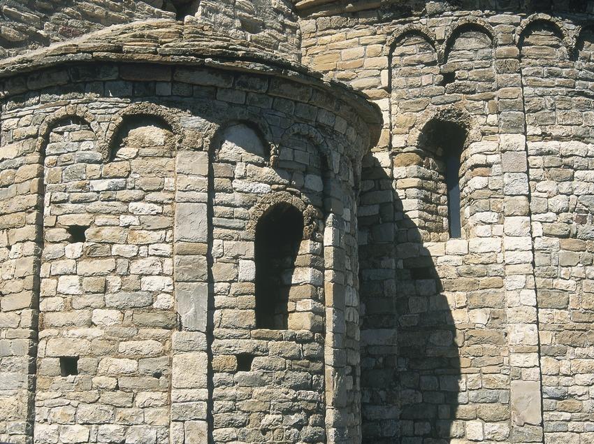 Détail de l'abside de l'église de la Mare de Déu de la Cinta  (Servicios Editoriales Georama)