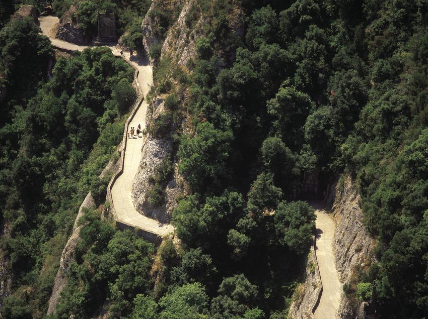 Camino al Parque Natural de Montaña de Montserrat.  (José Luis Rodríguez)