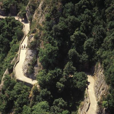 Road to the Montserrat Mountain Natural Park.  (José Luis Rodríguez)
