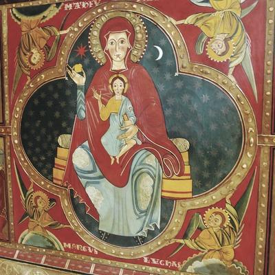 Frontal del altar de la iglesia de Santa Maria de Lluçà  (Servicios Editoriales Georama)
