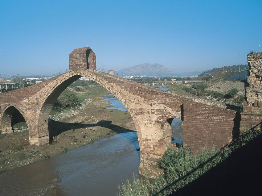 Puente del Diablo o de Sant Bartomeu sobre el río Llobregat  (Servicios Editoriales Georama)