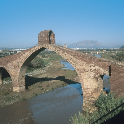 Pont del Diable (Devil's Bridge) or Sant Bartomeu bridge over the river Llobregat  (Servicios Editoriales Georama)