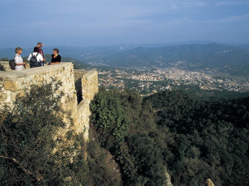 Viewpoint of Burriac castle.