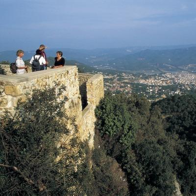 Mirador del castell de Burriac.