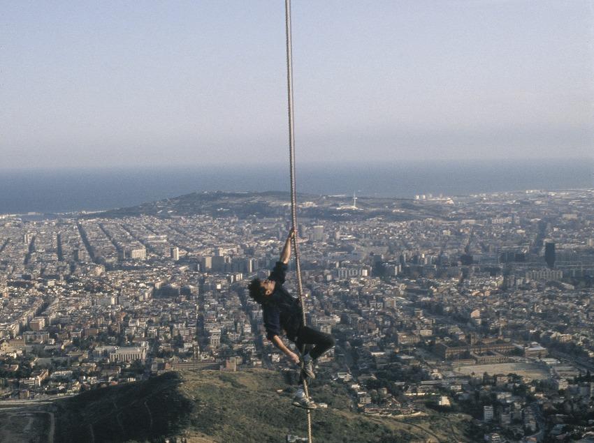 Erklimmen des Turms von Collserola.