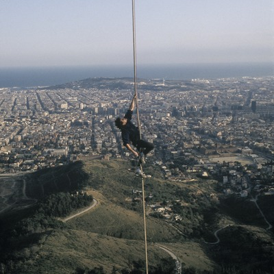 Ascent of the Collserola tower.