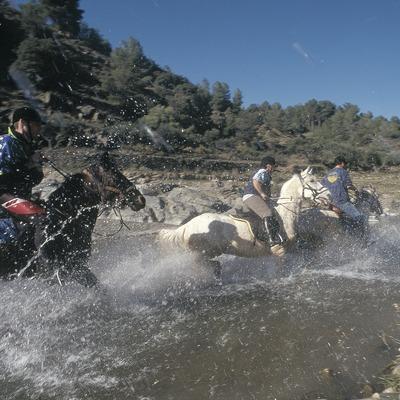 Randonnée équestre dans le naturel de la sierra de Montsant.