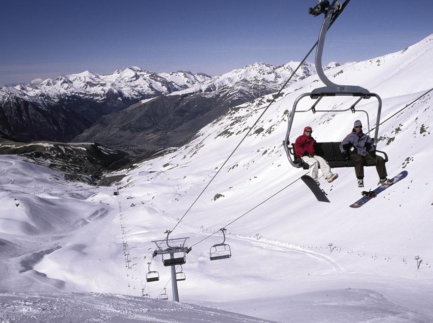 Ski lift in the Boí-Taüll Ski Resort.