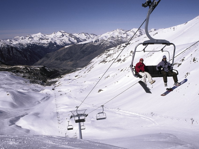 Telesilla en la estación de esquí de Boí-Taüll