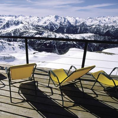 Mirador a l'estació d'esquí de Baqueira Beret