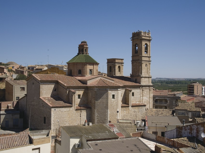 View of the town and the church of Sant Antolí