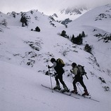 Esquiadores en la estación de esquí de Tavascan