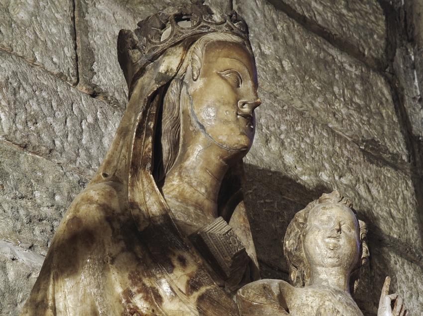 Mare de Déu dels Fillols en la iglesia de Sant Llorenç  (Miguel Raurich)