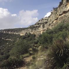 Serra de l'Ermita, on es troben els abrics d'art rupestre