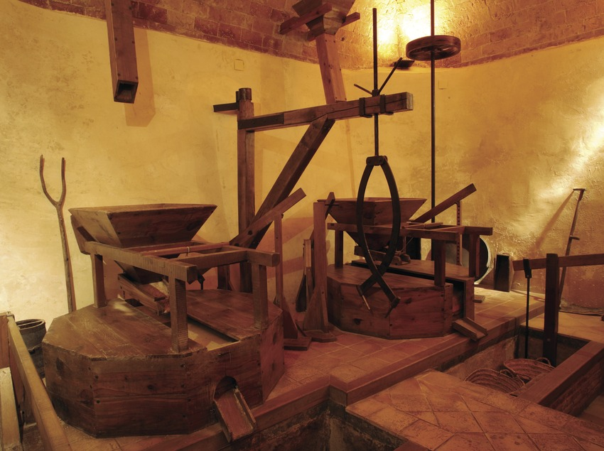 Molino de rodete horizontal en el Molí de Les Tres Eres, sede el Museo de Historia de Cambrils  (Miguel Raurich)