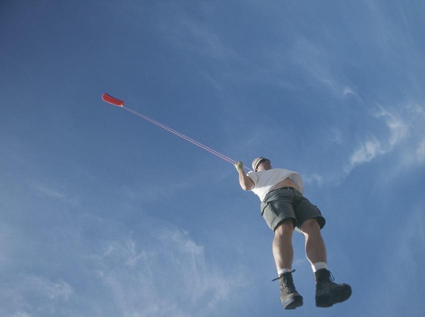 Traction with kite.  (Daniel Julián)