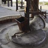 Premsa al Parc Temàtic de l'Oli.  (Miguel Raurich)