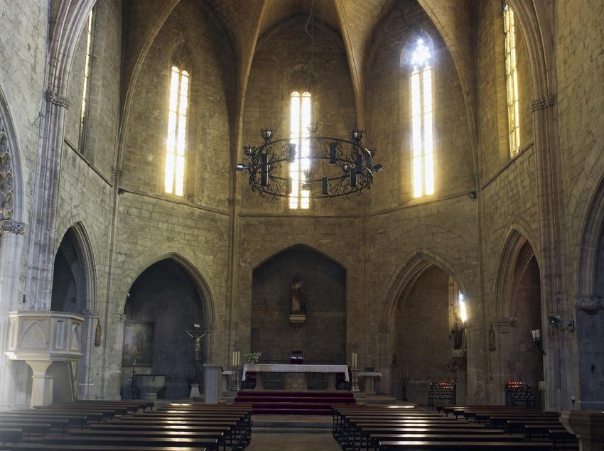 Interior de la iglesia de Sant Lluc.  (Miguel Raurich)