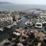 Vue générale du port et du boucau du port de plaisance Marina de Empuriabrava  (Marc Ripol)