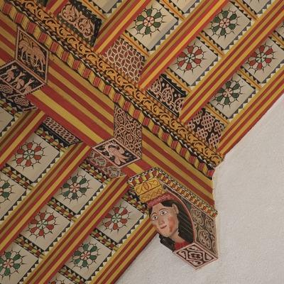 Detalle del artesonado del techo del santuario de Santa Maria de Paretdelgada  (Miguel Raurich)