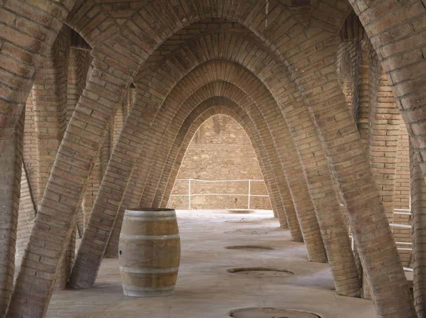 Interior de la bodega cooperativa vitivinícola, la Catedral del Vi