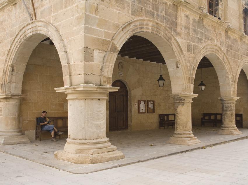 Porxada del Palau, actual ajuntament  (Miguel Raurich)