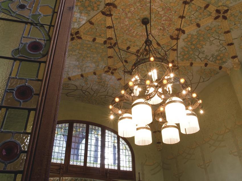 Interior del menjador de l'Institut Pere Mata, de Lluís Domènech i Montaner  (Miguel Raurich)