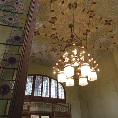 Interior del comedor del Instituto Pere Mata, de Lluís Domènech i Montaner  (Miguel Raurich)