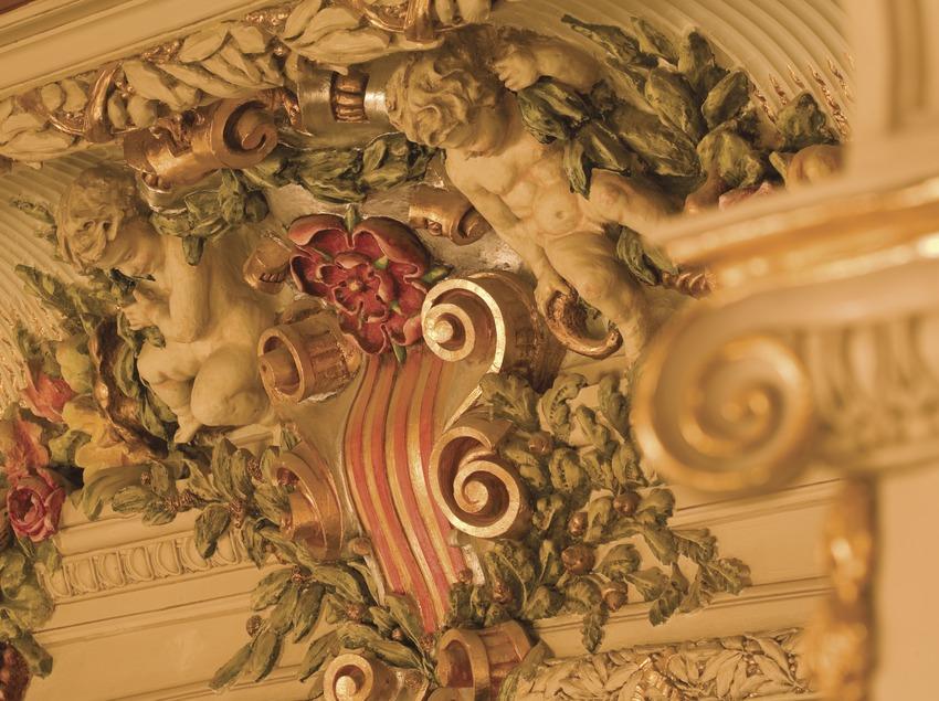 Détail ornemental de l'intérieur du théâtre Bartrina  (Miguel Raurich)