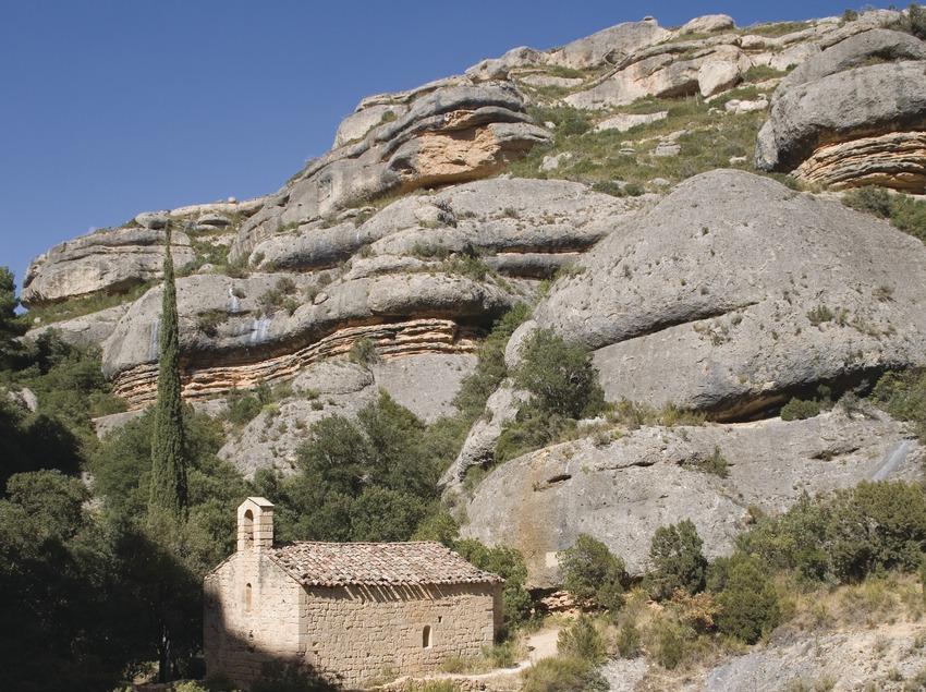 Sant Bartomeu chapel in the Fregarau gorge of the Sierra of Montsant