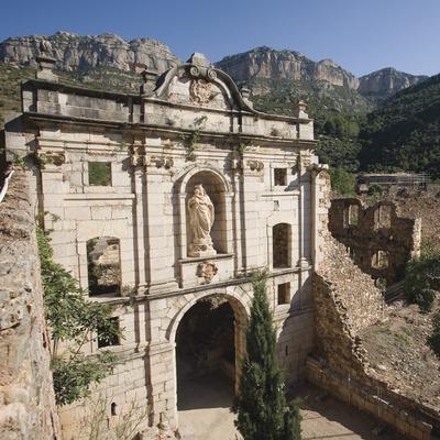 Façana renaixentista de la Cartoixa d'Scala Dei  (Miguel Raurich)