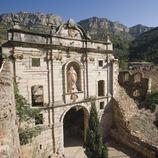 Renaissance façade of the Carthusian monastery of Scala Dei