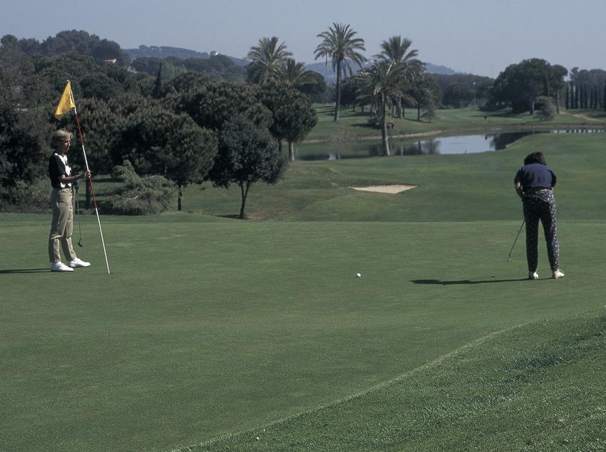 Joueurs au club de golf Llavanera  (Marc Ripol)